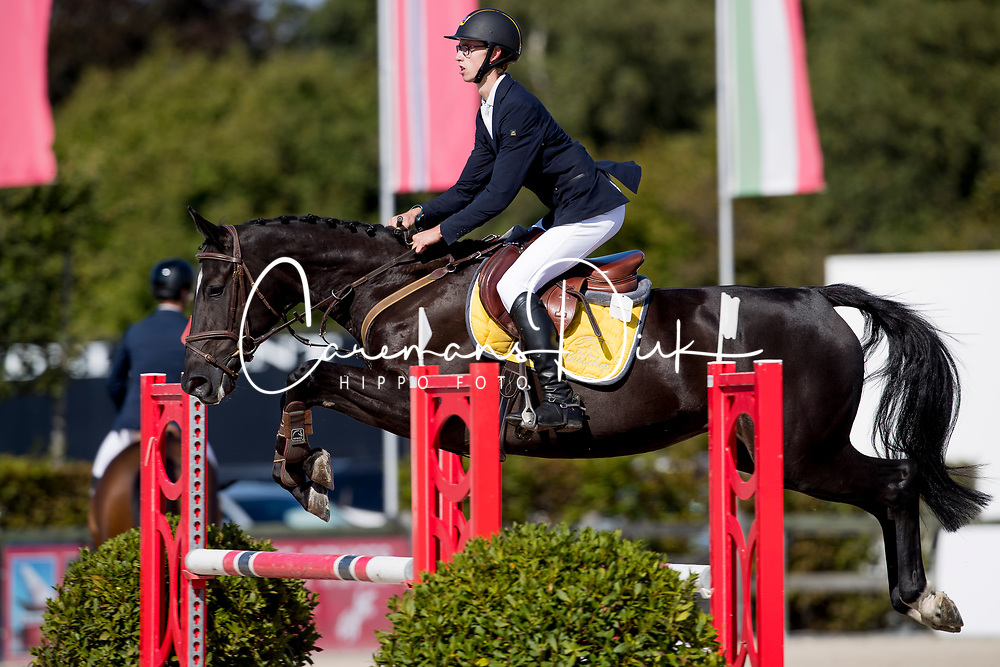 De Craene Ben, BEL, Qualithina van't Ruytershof<br /> BK Young Horses 2020<br /> © Hippo Foto - Sharon Vandeput<br /> 6/09/20