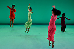 """© Licensed to London News Pictures. 24/10/2017. London, UK. Dancers take part in a photocall for """"Let Me Change Your Name"""", choreographed by Eun-Me Ahn.  The show takes place at The Place near King's Cross, 19-20 November as part of Dance Umbrella 2017 and is also part of Korea /UK 2017-18, a year of cultural collaborations between South Korea and the UK. Photo credit : Stephen Chung/LNP"""