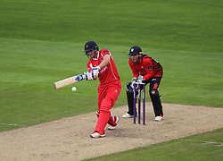 Liam Livingstone of Lancashire Lightning (L) in action - Mandatory by-line: Jack Phillips/JMP - 23/07/2017 - CRICKET - Emirates Old Trafford - Manchester, United Kingdom - Lancashire Lightning v Durham Jets - Natwest T20 Blast