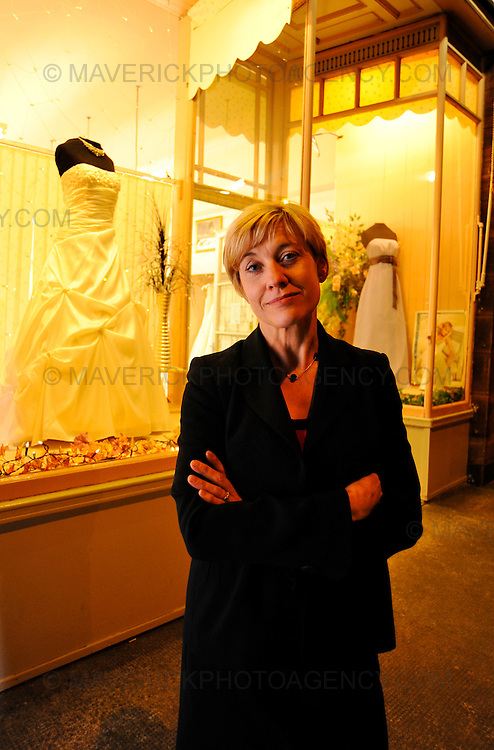 Susan Gregory who fought off four robbers from her wedding dress shop at Hutchison Terrace, Edinburgh by shouting at them.