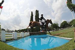 Carnejac Jules (FRA) - Oselia de Locjean<br /> FEI European Jumping Championship for young riders <br /> Arezzo 2014<br /> © Hippo Foto - Stefano Secchi