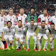 Czech Republic's players during their UEFA Euro 2016 qualification Group A soccer match Turkey betwen Czech Republic at Sukru Saracoglu stadium in Istanbul October 10, 2014. Photo by Aykut AKICI/TURKPIX