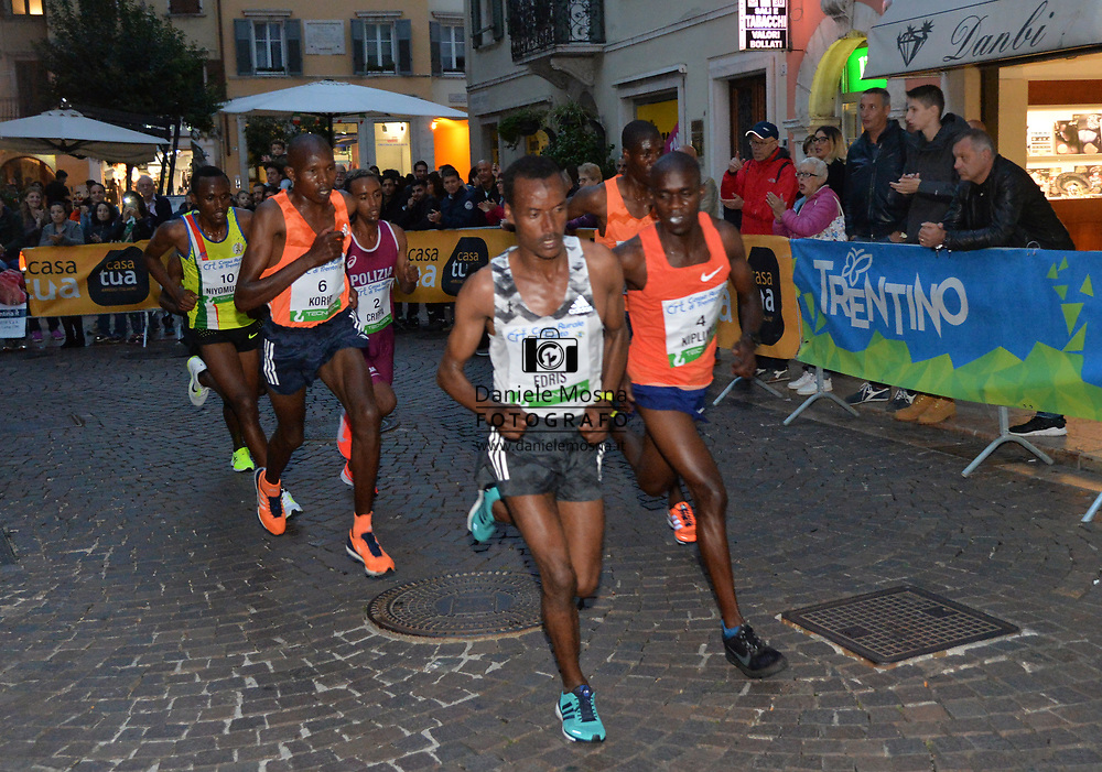 Trento Running Festival - October the 6th, 2018 -  Trento, Italy. Victory for Olympian Kiplimo - Edris in action<br /> Giro al Sas © DANIELEMOSNA.IT