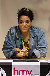 """© under license to London News Pictures. 19/3/2011: Actress, Laya Lewis, who plays Liv Malone in E4's Skins, at the signing of the new book, """"Skins: Summer Holiday"""", at HMV Manchester. Credit should read, """"Joel Goodman/LNP""""."""