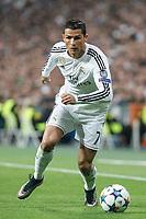Real Madrid's Cristiano Ronaldo during quarterfinal second leg Champions League soccer match at Santiago Bernabeu stadium in Madrid, Spain. April 22, 2015. (ALTERPHOTOS/Victor Blanco)