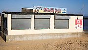 Out of season beach bar on the beach at Jaywick, Essex, England