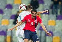 Fotball<br /> 11.10.2013<br /> VM-kvalifisering<br /> Slovenia v Norge 3:0<br /> Foto: imago/Digitalsport<br /> NORWAY ONLY<br /> <br /> Bostjan Cesar of Slovenia vs Mohammed Abdellaoue of Norway