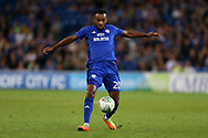 Loic Damour of Cardiff city in action. Carabao Cup 2nd round match, Cardiff city v Burton Albion at the Cardiff City Stadium in Cardiff, South Wales on Tuesday 22nd August  2017.<br /> pic by Andrew Orchard, Andrew Orchard sports photography.