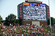 DALLAS, TX - AUGUST 30: Fans look on in the first quarter between the SMU Mustangs and the Texas Tech Red Raiders on August 30, 2013 at Gerald J. Ford Stadium in Dallas, Texas.  (Photo by Cooper Neill/Getty Images) *** Local Caption ***