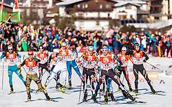 29.01.2017, Casino Arena, Seefeld, AUT, FIS Weltcup Nordische Kombination, Seefeld Triple, Langlauf, im Bild v.l.: Maxime Laheurte (FRA), Manuel Faisst (GER), Paul Gerstgraser (AUT), Philipp Orter (AUT) // f.l.: Maxime Laheurte of France Manuel Faisst of Germany Paul Gerstgraser of Austria Philipp Orter of Austria during Cross Country Gundersen Race of the FIS Nordic Combined World Cup Seefeld Triple at the Casino Arena in Seefeld, Austria on 2017/01/29. EXPA Pictures © 2017, PhotoCredit: EXPA/ JFK
