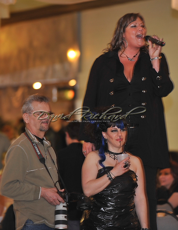 """""""Rock for Water"""" Earth Month Recycle Fashion show Fundraiser event featuring music by """"Less Than 88"""" on April 8, 2011 at Gargus Hall in Lorain."""