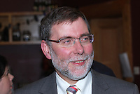 Nelson McCausland, MLA, Minister for Culture, Arts and Leisure, power-sharing Government of N Ireland, UK. Taken at opening of an exhibition to mark the 100th anniversary of the birth of Sam Hanna Bell, a local radio broadcaster, author, film maker, programme maker. 200910163124..Copyright Image from Victor Patterson, 54 Dorchester Park, Belfast, UK, BT9 6RJ..Tel: +44 28 9066 1296.Mob: +44 7802 353836.Voicemail +44 20 8816 7153.Skype: victorpattersonbelfast.Email: victorpatterson@mac.com.Email: victorpatterson@ireland.com (back-up)..IMPORTANT: If you wish to use this image or any other of my images please go to www.victorpatterson.com and click on the Terms & Conditions. Then contact me by email or phone with the reference number(s) of the image(s) concerned.