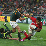 Toby Faletau, Wales, scores a try during the Wales V South Africa, Pool D match during the Rugby World Cup in Wellington, New Zealand,. 11th September 2011. Photo Tim Clayton