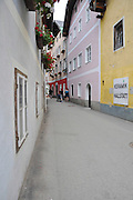 The town of Hallstatt, UNESCO World Heritage Site, on Halstatter See in the Hallstatt and Dachstein region, Upper Austria, Austria