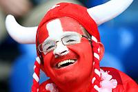 GEPA-0706086020 - BASEL,SCHWEIZ,07.JUN.08 - FUSSBALL - UEFA Europameisterschaft, EURO 2008, Schweiz vs Tschechien, SUI vs CZE. Bild zeigt einen Fan der Schweiz.<br />Foto: GEPA pictures/ Philipp Schalber