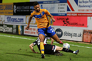 Mansfield Town midfielder CJ Hamilton (22) during the EFL Sky Bet League 2 match between Mansfield Town and Grimsby Town FC at the One Call Stadium, Mansfield, England on 4 January 2020.