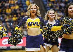 Jan 12, 2019; Morgantown, WV, USA; The West Virginia Mountaineers dance team performs during the second half against the Oklahoma State Cowboys at WVU Coliseum. Mandatory Credit: Ben Queen-USA TODAY Sports