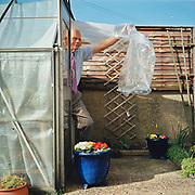 Dad and his Greenhouse