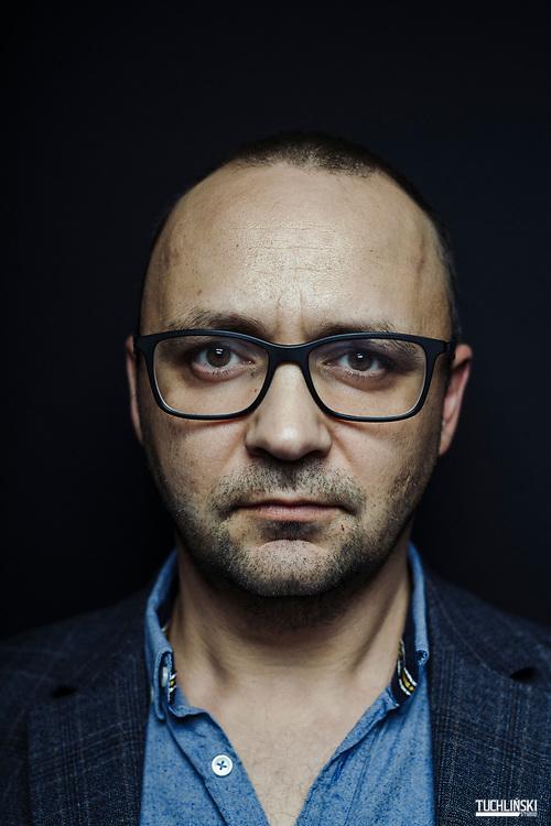 Warszawa, Polska; 11.2019r.<br /> Robert Ziębiński - pisarz, dziennikarz, były redaktor Naczelny Playboya.<br /> fot. Adam Tuchlinski