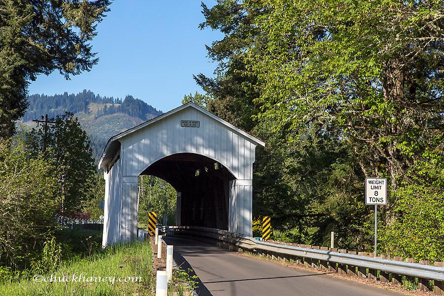 The Mosby Covered Bridge over Mosby Creek n Lane County, Oregon, USA