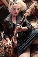 Laura Lee of German pop-punk duo Gurr at Haldern Pop Festival