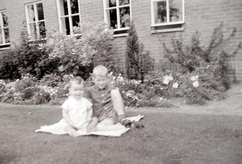 little children posing 1960s