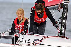 , Kiel - Kieler Woche 17. - 25.06.2017, Audi e-tron Cup - Boot 4 - Team Reich und Schön - Anna Hiltrop, Vanessa Fuchs, Daniela Michalski, Carlos Nevado〱