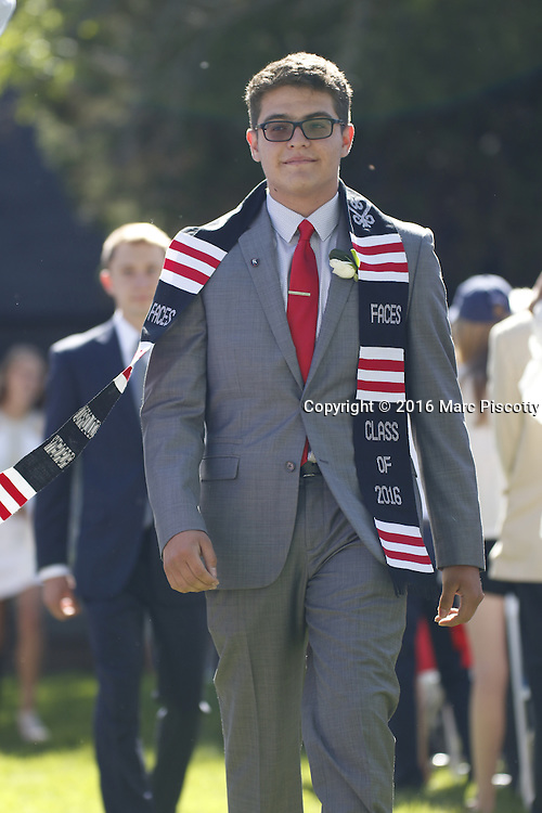 SHOT 6/2/16 8:38:34 AM - Colorado Academy Class of 2016 Commencement ceremonies at the Denver, Co. private school. The school graduated 88 seniors this year and the event capped a week filled with awards, tributes, and celebrations for the outgoing senior class. (Photo by Marc Piscotty / © 2016)