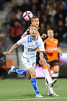 FOOTBALL - FRENCH CHAMPIONSHIP 2011/2012 - L1 - FC LORIENT v AJ AUXERRE - 21/09/2011 - PHOTO PASCAL ALLEE / DPPI - LE TALLEC ANTHONY (AJA) / GREGORY BOURILLON (FCL)