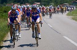 Marko Kump (SLO) of Adria Mobil and Uros Murn (SLO) of Adria Mobil at 1st stage of Tour de Slovenie 2009 from Koper (SLO) to Villach (AUT),  229 km, on June 18 2009, in Koper, Slovenia. (Photo by Vid Ponikvar / Sportida)