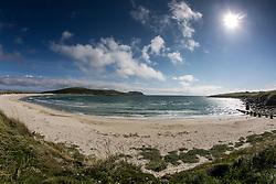 The beach near Sumburgh airport, near to Jarlshof Prehistoric and Norse Settlement, Sumburgh Head.