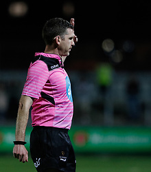 Referee George Clancy<br /> <br /> Photographer Simon King/Replay Images<br /> <br /> Guinness PRO14 Round 1 - Dragons v Benetton Treviso - Saturday 1st September 2018 - Rodney Parade - Newport<br /> <br /> World Copyright © Replay Images . All rights reserved. info@replayimages.co.uk - http://replayimages.co.uk