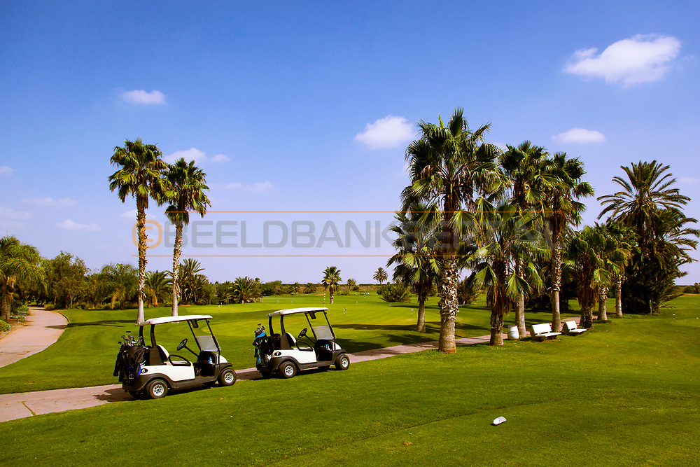 07-10-2015 -  Foto van Halfway bij PalmGolf Marrakech Palmeraie in Marrakech, Marokko. PalmGolf Marrakech Palmeraie was het eerste golfresort in Marokko. De 27-holes golfbaan  werd ontworpen door Robert Trent Jones Sr en valt onder het management van Troon Golf.