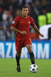 October 31, 2017 - Rome, Italy - Juan Jesus of Roma during the UEFA Champions League group C match between AS Roma and Chelsea FC at Stadio Olimpico on October 31, 2017 in Rome, Italy. (Credit Image: © Matteo Ciambelli/NurPhoto via ZUMA Press)