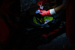 November 2, 2018 - North Jakarta, Jakarta, Indonesia - Jakarta, Indonesia, 02 November 2018 : Addition Victim and Fuselage of Lion Air Plane Crash arrived at Tanjung Priok Harbour by Indonesian Search and Rescue tim. Total eight bags of victims from the air plane crash arrived at Tanjung Priok Harbour. (Credit Image: © Donal Husni/ZUMA Wire)