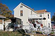 Missouri MO USA, Old buggies in Kimmswick, MO. October 2006