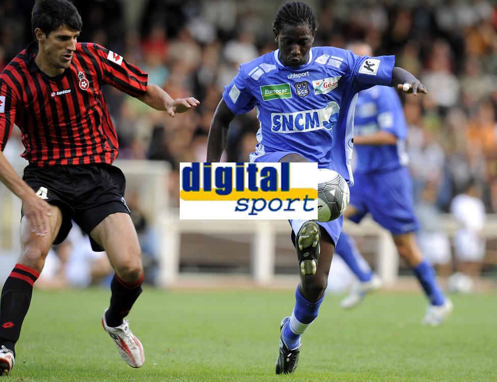 Fotball<br /> Frankrike<br /> Foto: DPPI/Digitalsport<br /> NORWAY ONLY<br /> <br /> FOOTBALL - FRIENDLY GAMES 2009/2010 - OGC NICE v SC BASTIA - 08/07/2009<br /> <br /> MOUSSA SANOGO (BAS) / GERALD CID (NIC)