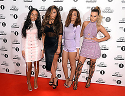 Leigh-Anne Pinnock, Jesy Nelson, Jade Thirlwall and Perrie Edwards of Little Mix arriving at the BBC Radio 1 Teen Awards, held at the SSE Wembley Arena, London.<br /> <br /> Picture date: Sunday, 23 October, 2016. Photo credit should: Doug PetersEMPICS Entertainment