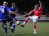 Photo: Tony Oudot/Sportsbeat Images.<br /> Charlton Athletic v Ipswich Town. Coca Cola Championship. 08/12/2007.<br /> Luke Varney of Charlton clears from Danny Haynes of Ipswich