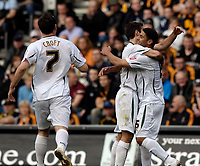 Photo: Jed Wee/Sportsbeat Images.<br /> Hull City v Norwich City. Coca Cola Championship. 06/04/2007.<br /> <br /> Norwich celebrate after Youssef Safri's (R) corner finds its way into the back of the net.