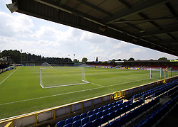 A general view of The Cherry Red Records Stadium before kick off during a pre season friendly match at The Cherry Red Records Stadium, Kingston Upon Thames.