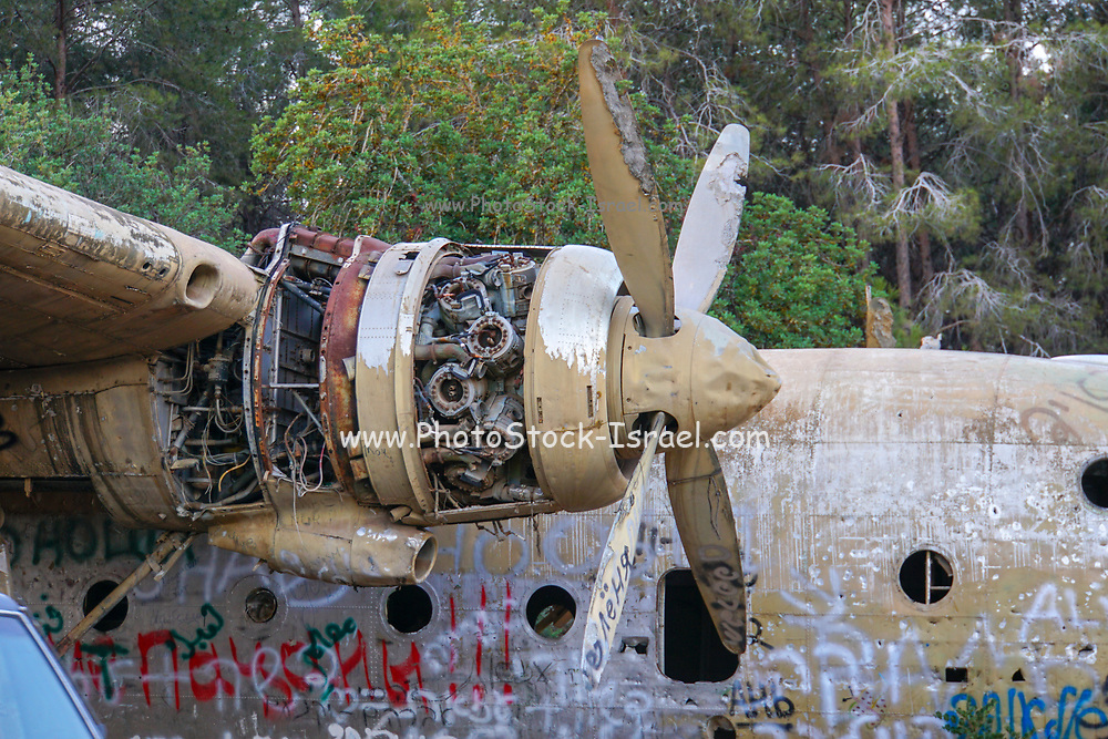 Israeli Air Force Nord N.2501D Noratlas at Defenders Park Nahshon Junction, Israel. It was set up as a memorial for the paratroopers unit 317.