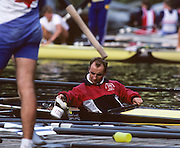 Lucerne, SWITZERLAND  GBR M2+  cox Gary HERBERT. 1992 FISA World Cup Regatta, Lucerne. Lake Rotsee.  [Mandatory Credit: Peter Spurrier: Intersport Images] 1992 Lucerne International Regatta and World Cup, Switzerland