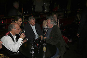 Roger Saul, Catherine Bailey, Don McCullin and David Bailey, Bazaar and Moet  Black, White and Gold party. Ronnie Scott's. Frith St. London. 16 november 2006. ONE TIME USE ONLY - DO NOT ARCHIVE  © Copyright Photograph by Dafydd Jones 66 Stockwell Park Rd. London SW9 0DA Tel 020 7733 0108 www.dafjones.com