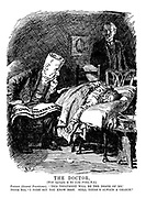 """The Doctor. (With apologies to Sir Luke Fildes, R.A.) Patient (General Practioner). """"This treatment will be the death of me."""" Doctor Bill. """"I dare say you know best. Still there's always a chance."""""""
