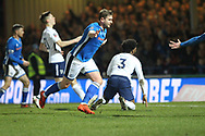 GOAL Steven Davies scores for Rochdale during the The FA Cup match between Rochdale and Tottenham Hotspur at Spotland, Rochdale, England on 18 February 2018. Picture by Daniel Youngs.