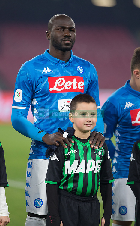 January 13, 2019 - Naples, Campania, Italy - Koulibaly of SSC Napoli seen before the  Serie A football match between SSC Napoli vs US Sassuolo at San Paolo Stadium. (Credit Image: © Ernesto Vicinanza/SOPA Images via ZUMA Wire)