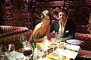 SOPHIE ANDERTON, Opening of London's largest South african restaurant: Shaka Zulu. Stables amrket. Camden. London. 4 August 2010. <br /> -DO NOT ARCHIVE-© Copyright Photograph by Dafydd Jones. 248 Clapham Rd. London SW9 0PZ. Tel 0207 820 0771. www.dafjones.com.