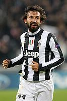 """Esultanza Andrea Pirlo Juventus<br /> celebration<br /> Torino 20/11/2012 Stadio """"Juventus""""<br /> Football Calcio UEFA Champions League 2012/13<br /> Juventus v Chelsea<br /> Foto Insidefoto Paolo Nucci"""