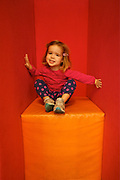 Child Sits in Large Art Chair, GoggleWorks Center for the Arts, Reading, Berks Co., PA